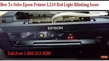 Epson Printer L210 Red Light Blinking Issue