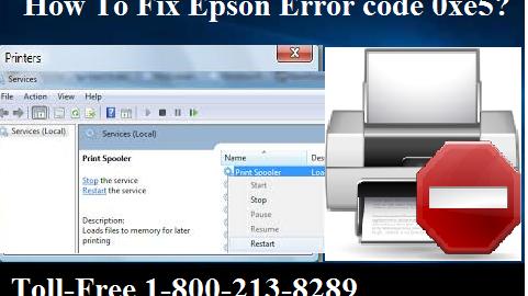 Fix Epson Error code 0xe5