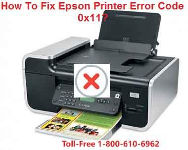 Fix Epson Printer Error Code 0x11