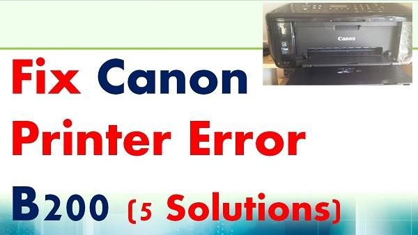 Fix Canon printers Error Code B200