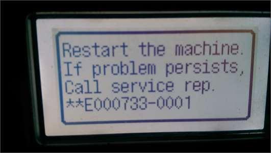 Fix Canon printers Error Code E000733-0001