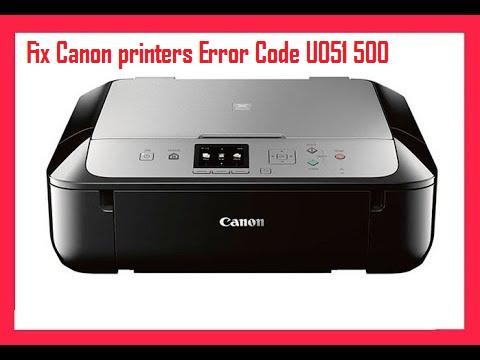 Canon printers Error Code U051 500