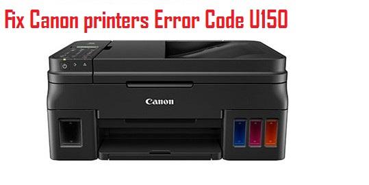 Canon printers Error Code U150
